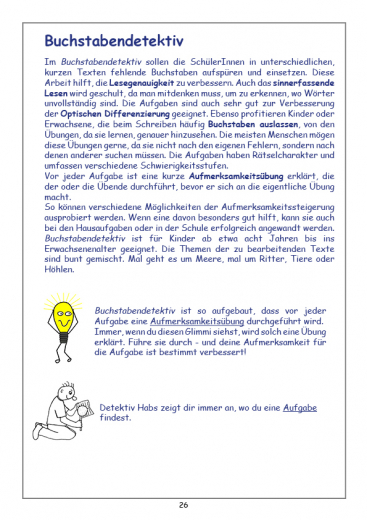 Übungen, die stark machen bei Lese-Rechtschreib-Schwäche