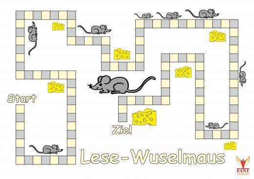 Lesespiel Lese-Wuselmaus (E-Book, PDF)