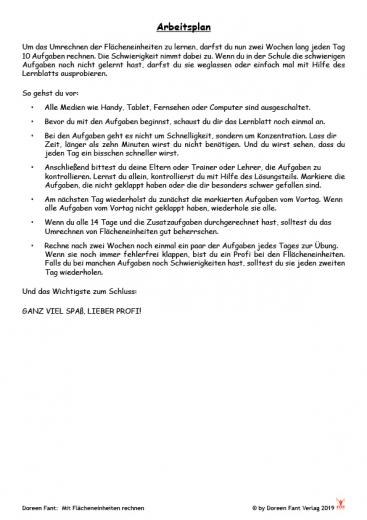 Mit Flächeneinheiten rechnen - in zwei Wochen zum Profi (PDF-E-Book)