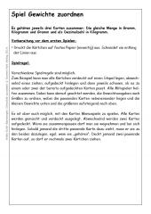 Spiel Gewichte zuordnen (E-Book PDF)