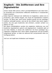 Englisch - Die Zeitformen und ihre Signalwörter (E-Book PDF)
