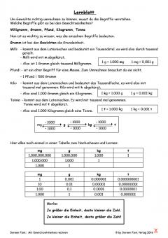 Mit Gewichtseinheiten rechnen - in zwei Wochen zum Profi (E-Book PDF)