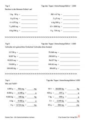 Mit Gewichtseinheiten rechnen - in zwei Wochen zum Profi (PDF-E-Book)